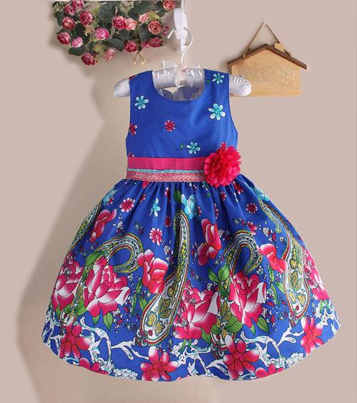 חמה מכירת חג המולד סופר פרח בנות שמלות מסיבת החתונה דוט הדפס נסיכה ילדים שמלת אופנה בגדי ילדים