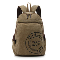 Drop shipping wholesale men and women canvas computer bag high school students schoolbag casual bag backpack 1139