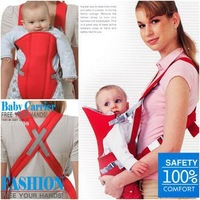 1x V-shaped Baby carrier sling Portable Front Carrying Baby sling Strap Soft Cushion child Infant Backpack kids Sling Red, blue