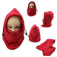 warm fleece red solid color winter masks ski mask hat Protected ear beanies ski Skull Snowboard Cap windproof mask