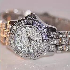 2015 New Women Rhinestone Watches Lady Dress Women watch Diamond Luxury brand Bracelet Wristwatch ladies Crystal
