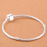 925 Sterling Silver Bracelet Snake Chain Screw European Silver Charms Beads  /ggfaoxma gtrapkya PH001