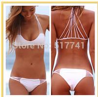 2015 Sexy Swimwear Banyans String Racerback Top Bikinis Set 7 Colors Swimsuit For Women,Size SML