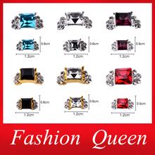 3d Alloy Nail Decorations,20pcs/lot Luxurious Charm Design Silver Gold Nail Rhinestones,Diamond Glitter Nail Jewelry Accessories