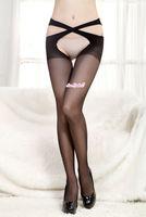 2015 New decussate waist design Women Sexy silk tights pantyhose women's Underwear sexy Costume Free Shipping sex product