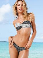 2015 New Fashion Women Black and White Plaid Printed Sexy Bikini Set Summer Sexy Beach Swimwear Bathing Suit For vocation