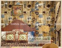 Individuality wood/plank wallpaper roll papel de parede preto wallpaper  on wall PatternDamask wall paper  Roll Wallcoverings