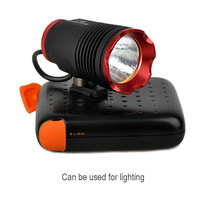 1pc High quality Cree XM-L2 T6 541 Lumens Bicycle Light LED 5W Bike Light Long Lifetime+Portable Charger Power Bank 5200 MAH