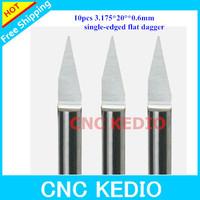 Sale !!!   10pcs/lot  6mm  20degree   V-shape Flat bottom Carbide cnc router flat bottom bits for wood  pvc demsity board