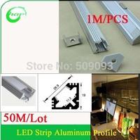 50M/Lot 1M Length  LED Under Cabinet Lighting Aluminum Profile LED Strip Light Bar for Jewelry Showcase