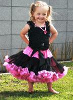 2015 new fashion summer newborn girls black petti skirt hot pink trim fluffy tulle design festival trend babys summer skirt