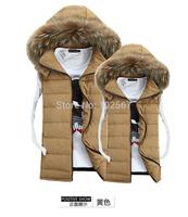 2014 spring and winter casual cotton vest male Korean couple tide men's vest down jacket vest waistcoat