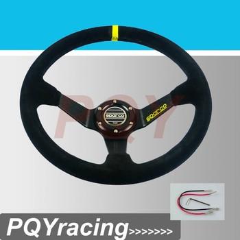 J2 гонки магазин - Neswest спа машина руль обшитый кожей спортивный руль глубокое блюдо авто руль 350 мм замши руль