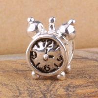 G035 925 sterling silver DIY Beads Charms fit Europe pandora Bracelets necklaces clock /eveanmla gvdapmka