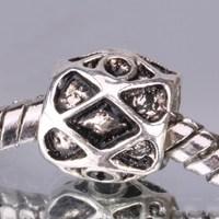 G004 925 sterling silver DIY Beads Charms fit Europe pandora Bracelets necklaces Grid /etgankna gtzaplga