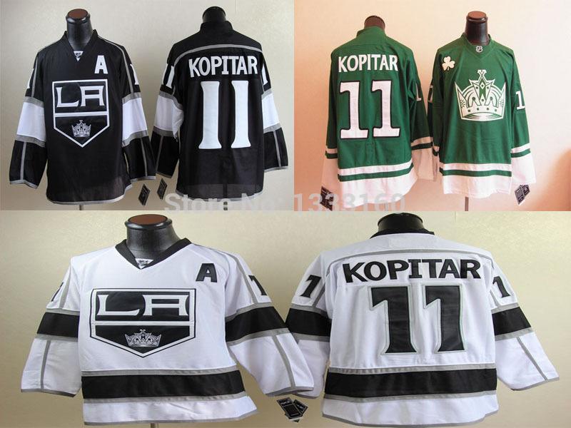 2014 LA Kings Jerseys #11 Anze Kopitar Jersey Los Angeles Kings Home Black Road White Stitched A Patch(China (Mainland))