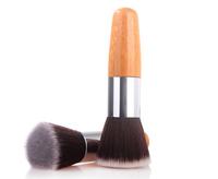 Free Shipping Makeup Brush Flat Foundation Brush Round Multifunctional Cosmetic Brush Nylon Brush + Bamboo Handle