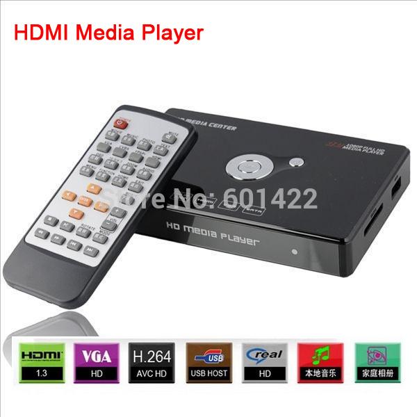 "10PCS H.264 Full HD 1920x1080P SATA HDD HDMI Media Player 3D Support 2.5""Internal External HDD Multimedia USB HDMI VGA AV YPBPR(China (Mainland))"