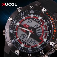 CUCOL Relogio Masculino Men's Military Watches Calendar LED Male Clock Rubber Strap Sport Watch Men Digital Watches