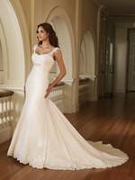 Sexy Spahetti Straps Mermaid Wedding Dresses Lace Bridal Gowns For a Wedding Vestidos Novias Custom Made