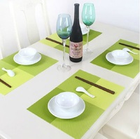 4 x European Style Grid Adiabatic Placemat Table Mat Protector Dining Decoration J166