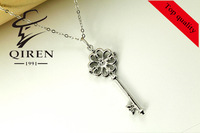 free shipping women's  jewelry delicate Sterling silver 925 women's necklace with Cubic Zirconia