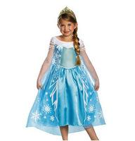 Girls Frozen dresses blue lace Elsa costume for children baby & kids summer dress kids party dresses