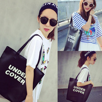 Hot-selling 2014 letter soft PU one shoulder tote bag handbag women's