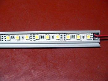 non-waterproof 5050 SMD LED Rigid strip light with aluminum housing;30pcs led;0.5m long;RGB color