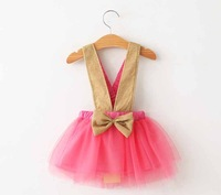 2015 sping new arrival flower girl dress,pink/black/white plaid A-line dress 3~8 years toddler girls tutu dresses