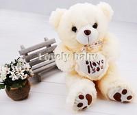 New Plush Bear Toy Baby Kids Gift Cute Lovely Soft Stuffed Plush Heart-Shaped Bear Doll Toy High Quality b4