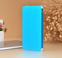 Blue Ultrathin polymer Power Bank Newest design power bank 12000mah Aluminum alloy for smart phone and psp mp3