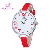 New Arrival Fashion Leather Strap Women Dress Watches Brand Skone Quartz Wristwatches For Ladies Elegant Watch Relogio