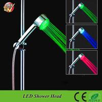 SDS-A12T  Temperature Sensor 3 Color RGB led bath shower faucets Lighting Water Saving led bathroom shower head