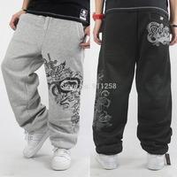 Eminem 2014 Winter Men's Elastic Waist Brand Harem Street Dance Pants Loose Hip hop Outdoor Printed Sweatpants for Man FS3434