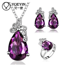 FVRS004 2015 new fine jewelry sets Extravagant Party jewlery set for lady Fashion Big Crystal set