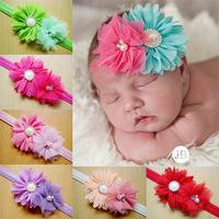 10pcs/lot Rose Rosettes Flower With Lace Headband Baby Headband