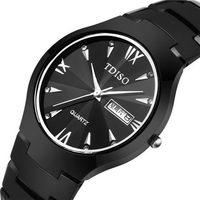 Femininos TDISO men wristwatch fashion casual quartz luxury brand watches fulltungsten steel relogio masculino women dress watch