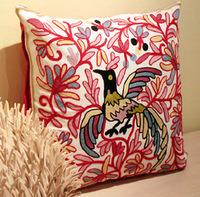 Jacquard Phoenix Linen Cotton Cushion Cover Retro and Nostalgic Embroidered Square Pillow Case Wedding Gift Home Decor Wholesale