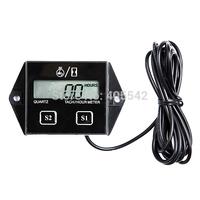 A17 Spark Plugs Engine Digital Tach Hour Meter Gauge Tachometer Motorcycle Bike T1050 T15
