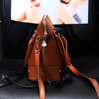 Woman leather handbag fashion pu HandbagsWinter new European and American fashion handbags tide orange shell bag ladies handbag