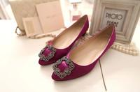 2015 NEW shoes women Rhinestone Silks flattie,5 color