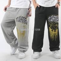 Eminem 2014 Spring Autumn Men's Elastic Waist Outdoor Printed Sweatpants Hip hop Brand Harem Dance Trousers for Man FS3436