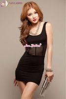San.Ladies Sexy Transparent dress Women Comfortable milk fiber Night Club Tight dress costume Free shipping
