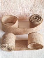 New year Natural home decoration wedding party decorations burlap wreath Jute Roll Burlap Ribbon Craft Gift Wrap