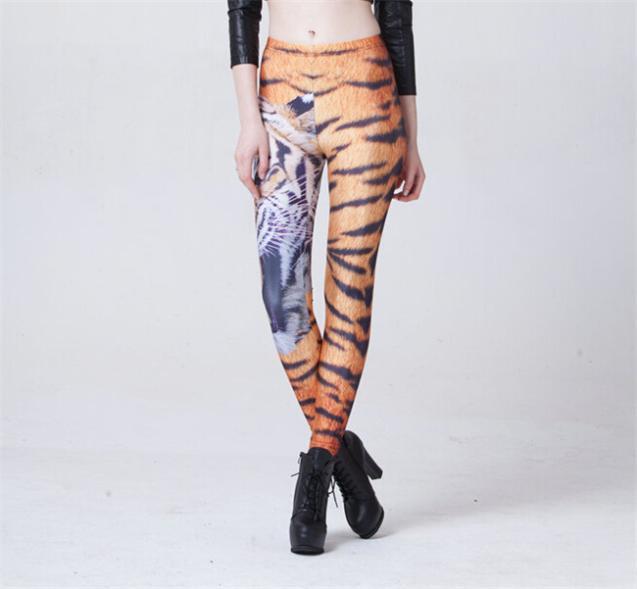 Sports Wear 2015 Sexy Women Tiger Animal Printed Legging Elastic Leggins Galaxy Series Female Pants Leggings S106-574(China (Mainland))