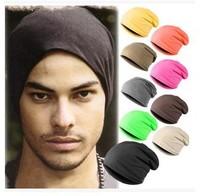 Wholesale New Fashion Winter Unisex Solid Color Elastic Hip Hop Cap Beanie Hat Slouch 9 Colors One Size