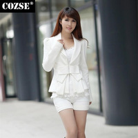 New 2014 Autumn Fashion Slim Style Fit Solid Lady Women Blazers Korean Style Plus Size Slim Women Coat Free Shipping n5052