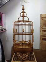Free shipping 22CM upscale old carved bamboo, birds, white-eye, Prince birdcage, special