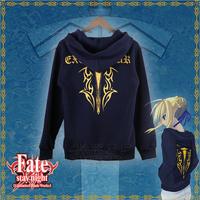 NEW HOT  Fate/UBW Saber Excalibur  Cosplay Hooded zipper fleece jacket Hoodies Sweatshirts Free Shipping